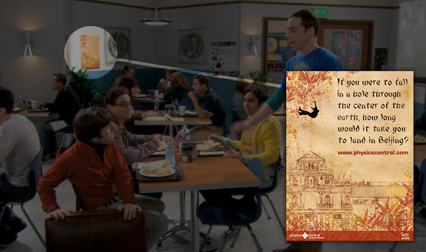 CBS's Big Bang Theory displays poster design on set
